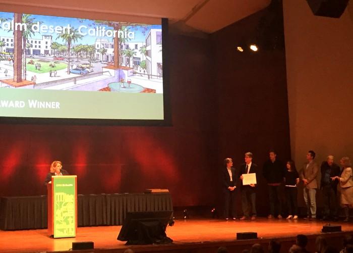 Mary Madden, Driehaus Award Jury Chair, presenting award to STP