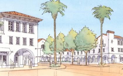 New plaza and mixed-use neibhborhood center on Spring Street