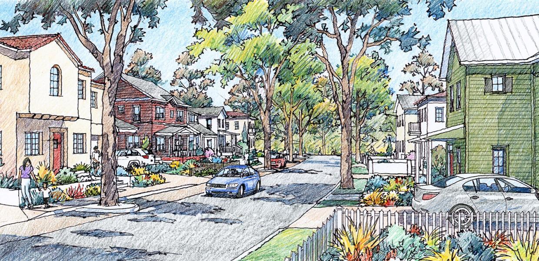 Neighborhood edge street, East Area 1, Santa Paula
