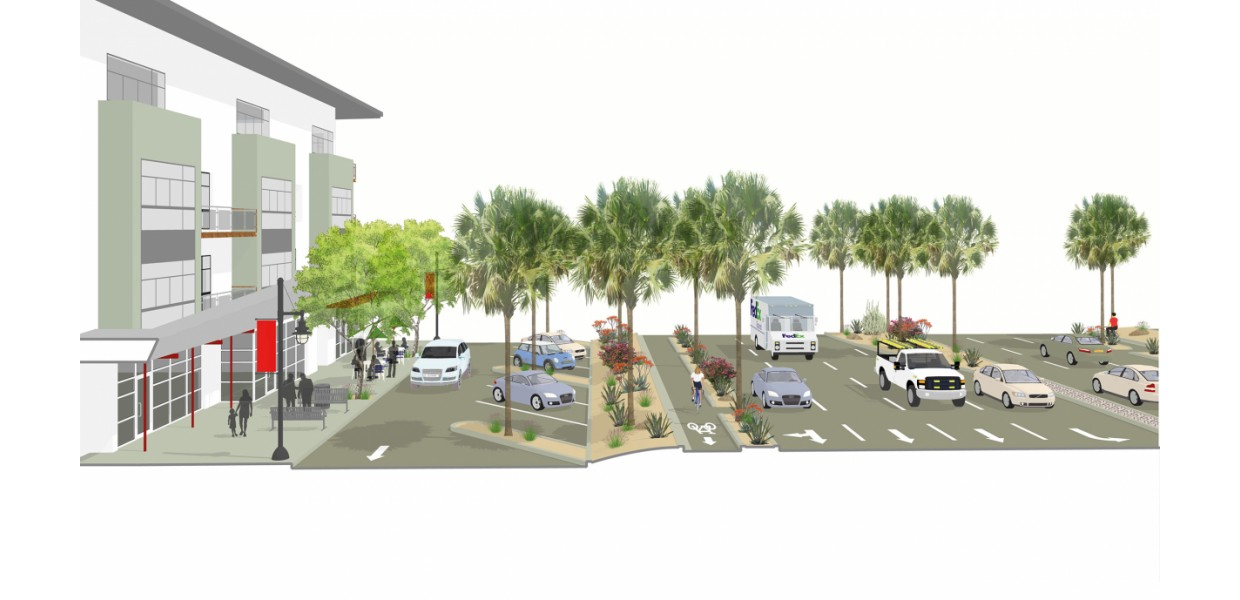 111 Corridor - planned boulevard design with reorganized frontages
