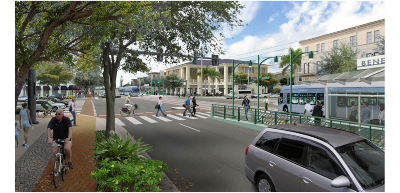 Proposed street improvements for bus rapid transit (BRT) line on Bee Ridge Road