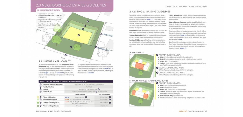 Neighborhood Estates site design and massing guidelines