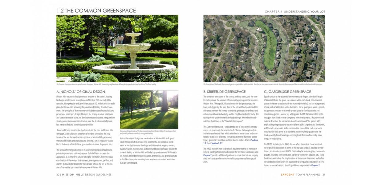 Neighborhood Estates greenspace character