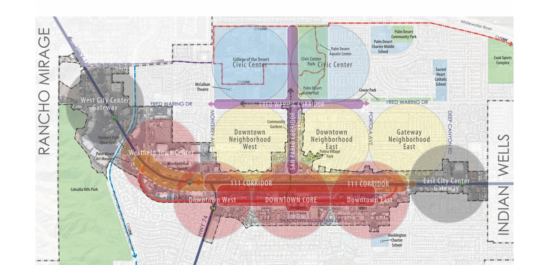 City Center District and 111 Corridor Diagram