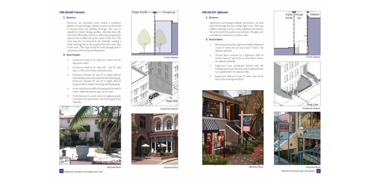 Frontage type standards and guidelines