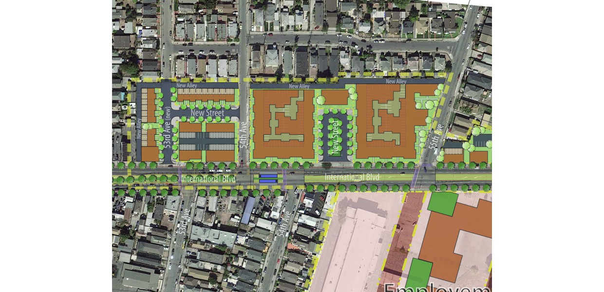 Infill development studies on large vacant parcels