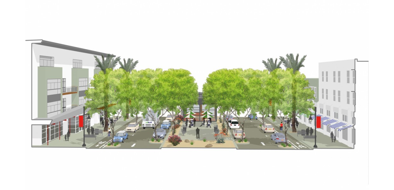 San Pablo Avenue - new neighborhood center
