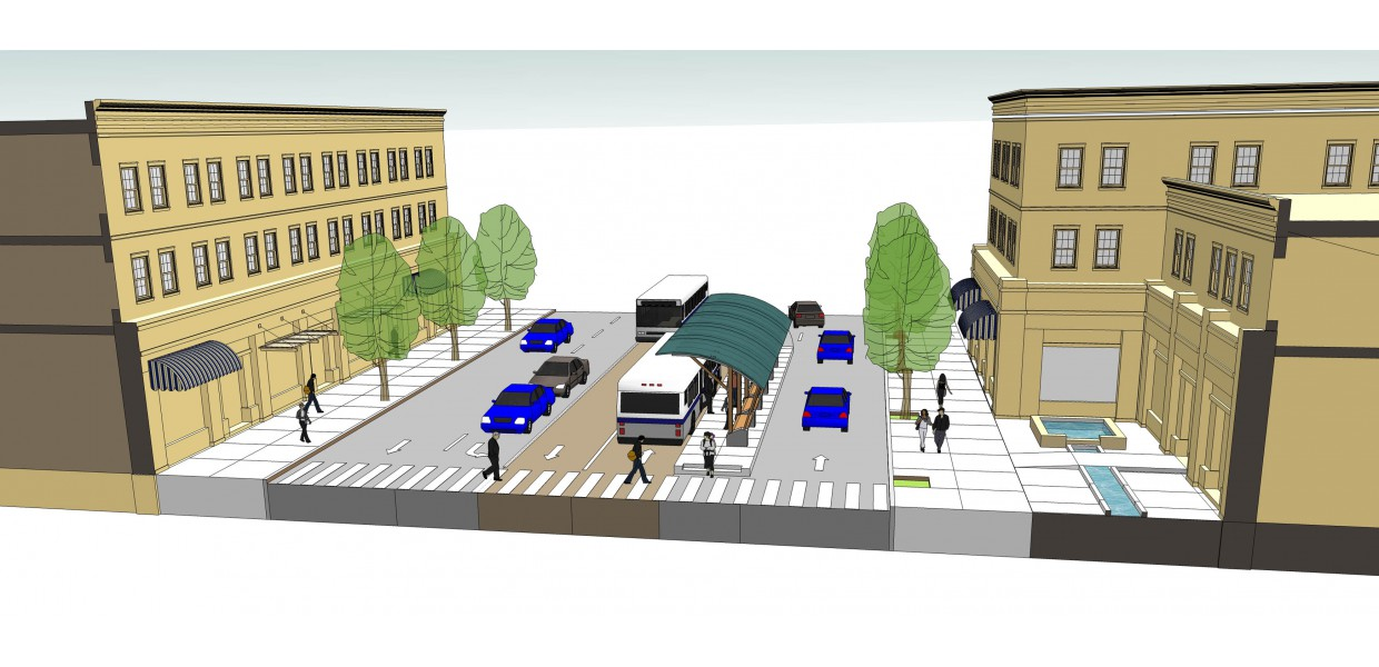 Street improvements for planned bus rapid transit (BRT) line